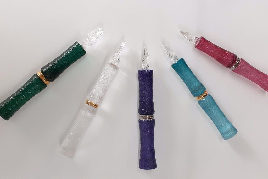 【ガラスペンで温泉街の未来を描く!】吹きガラスで作る日本唯一のガラスペン